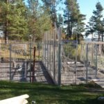 Två nya hundgårdar med tak byggdes 2016.